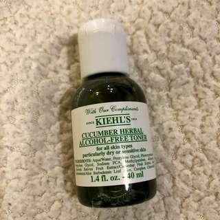 Kiehl's cucumber herbal toner 40 ml.