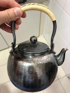 日本回流手工純銀茶壺
