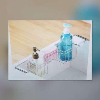 不鏽鋼  廚房 水槽 側邊洗碗劑 架