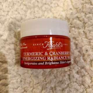 Kiehl's turmeric and cranberry mask 14 ml.