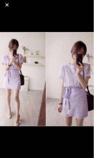 (送)韓版粉紫洋裝