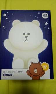 Brown Led Touch lamp (hug me版)購買自韓國 全新未開盒