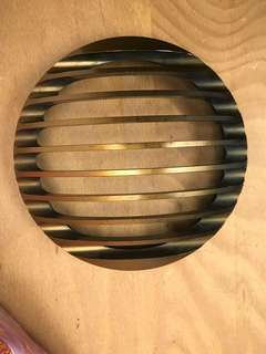 Harley headlight grilled cover