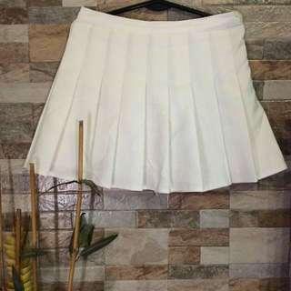 White Korean Skirt
