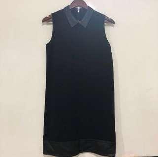 Black Dress w/ Leather