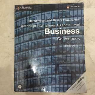 Cambridge AS/A Level Business Coursebook/Textbook