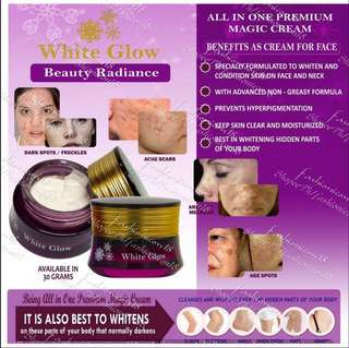 BEAUTY RADIANCE WHITE GLOW PERFECT MAGIC FACES AND BODY BLEACHING CREAM 100g