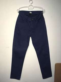 Dark blue high waisted pants