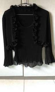 黑色上衣 長袖 小外套 兩件
