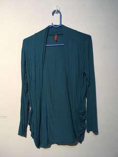 Dark blue green cardigan