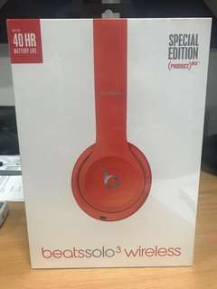 Beats Solo3 Wireless Special Edition(Red)