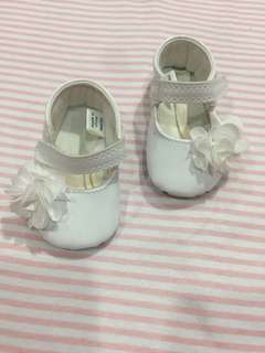 Mothercare white ballet shoes