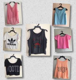 Crop tops (take all)