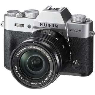 Fujifilm Xt20 with 16-50mm len