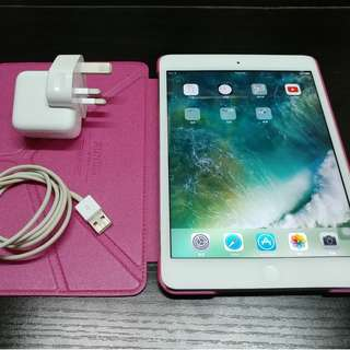放: 99%新, 完全無花!! 女仔用, 2手ipad mini 2, 32gb wifi,  銀色, 行貨ZP機,  有火牛, 充電線, 已貼玻璃貼,  並送1個機套 (並不是 ipad pro 9.7 10.5 12.9 imac 3ds switch ps4 psv iphone X )