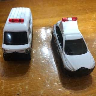 🚚 [二手玩具]TOMICA合金車。警車系列兩台(日本購入)