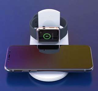 Apple iphone iwatch samsung 兩合一 無線充電座