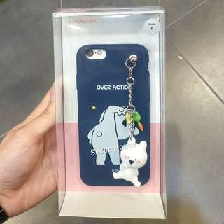(包郵)🇰🇷Extremely Rabbit Figure Chain Phone Case 愛跳舞的兔子公仔手機殼