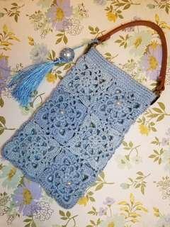 《超用心裝作》手工鉤織小手袋 Handmade lady bag