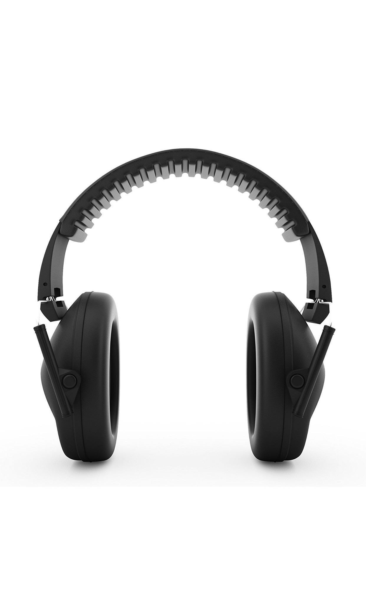 Earmuffs hearing protection with low profile passive folding design 26dB NRR and