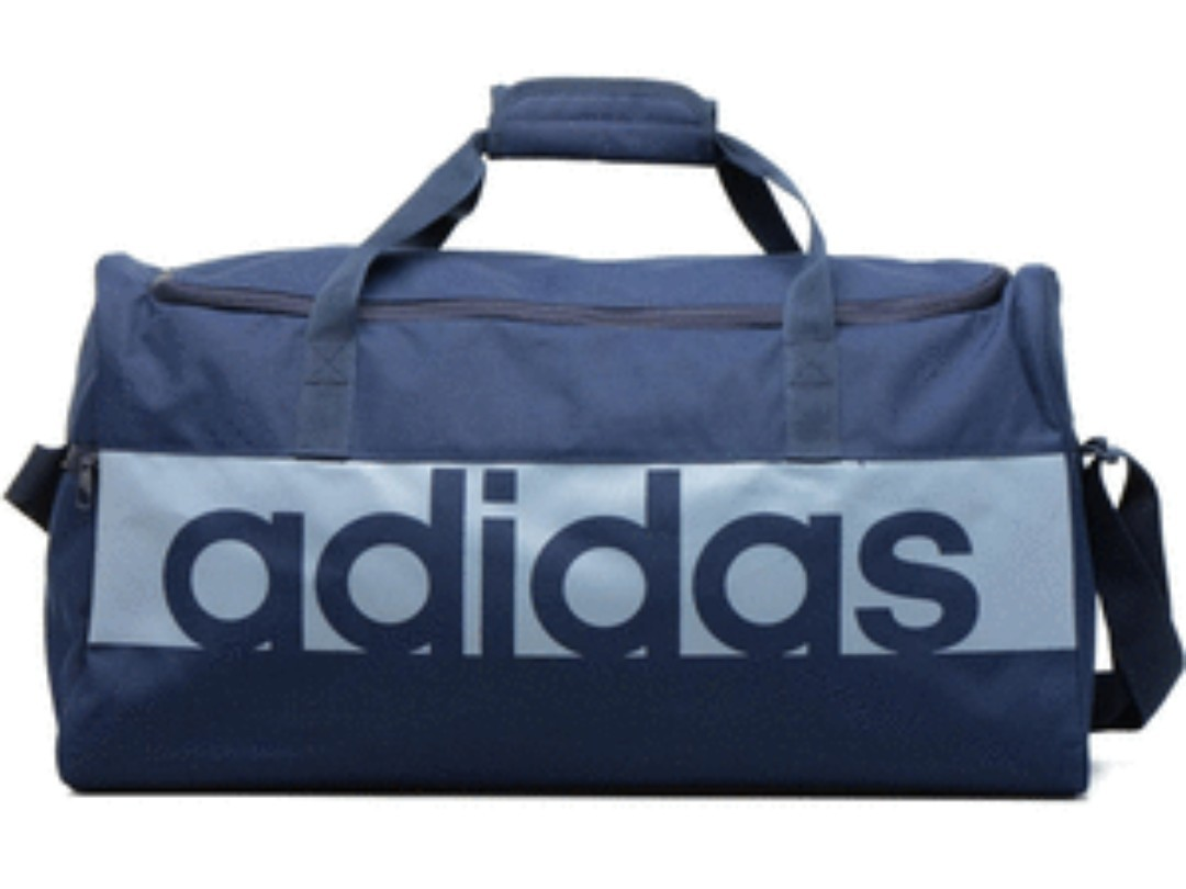 73ef79df64 Blue black Adidas Duffle Bag linear performance gym