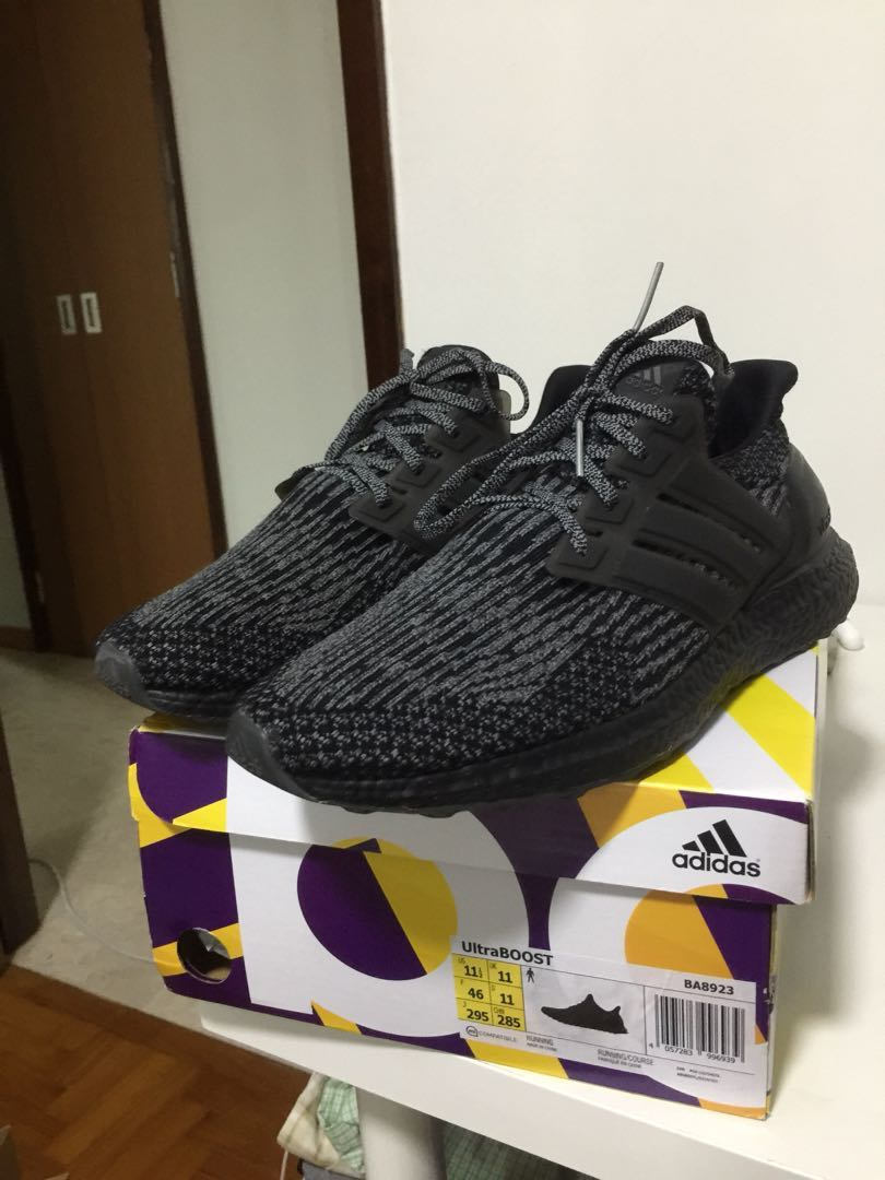c10a2e3357895 Adidas Ultraboost 3.0 triple black silver