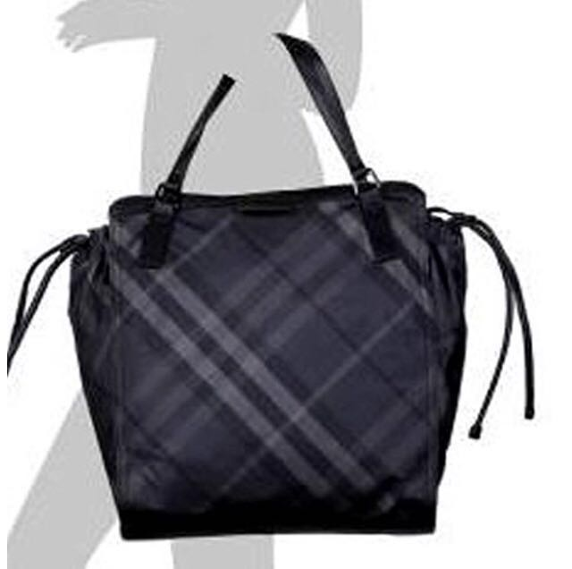 93956d887d11 Authentic BURBERRY Buckleigh Packable Nylon Shoulder Bag Travel Tote ...