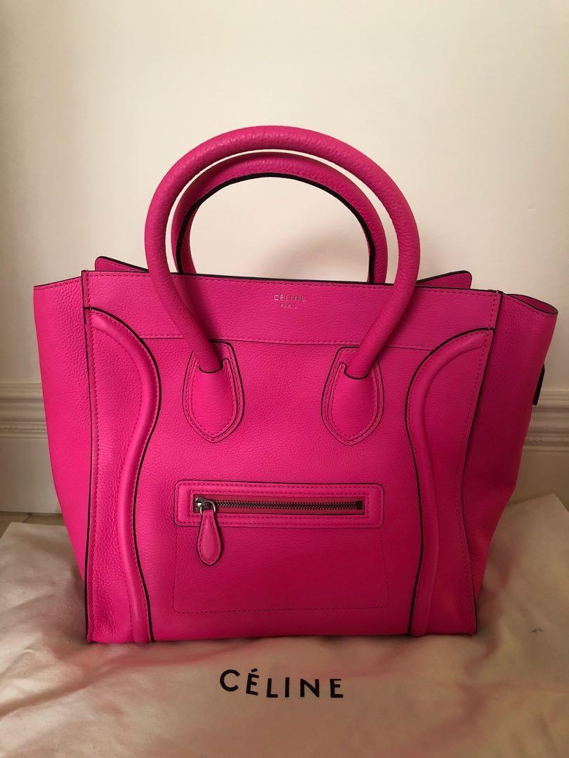 47ecb66c0fc9 Céline Fluo Pink Luggage Tote Bag