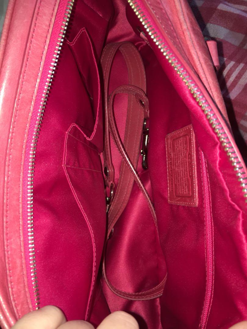 Coach pushlock poppy satchel