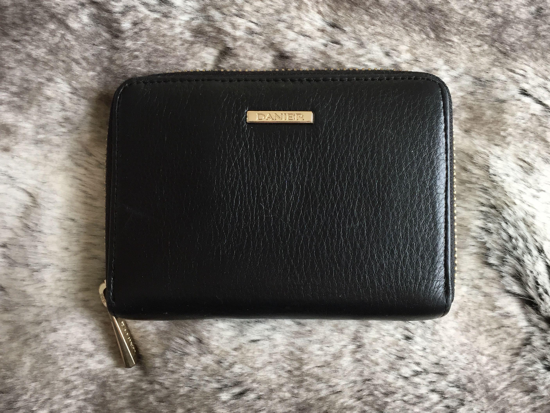 Danier Black Leather Zip Wallet