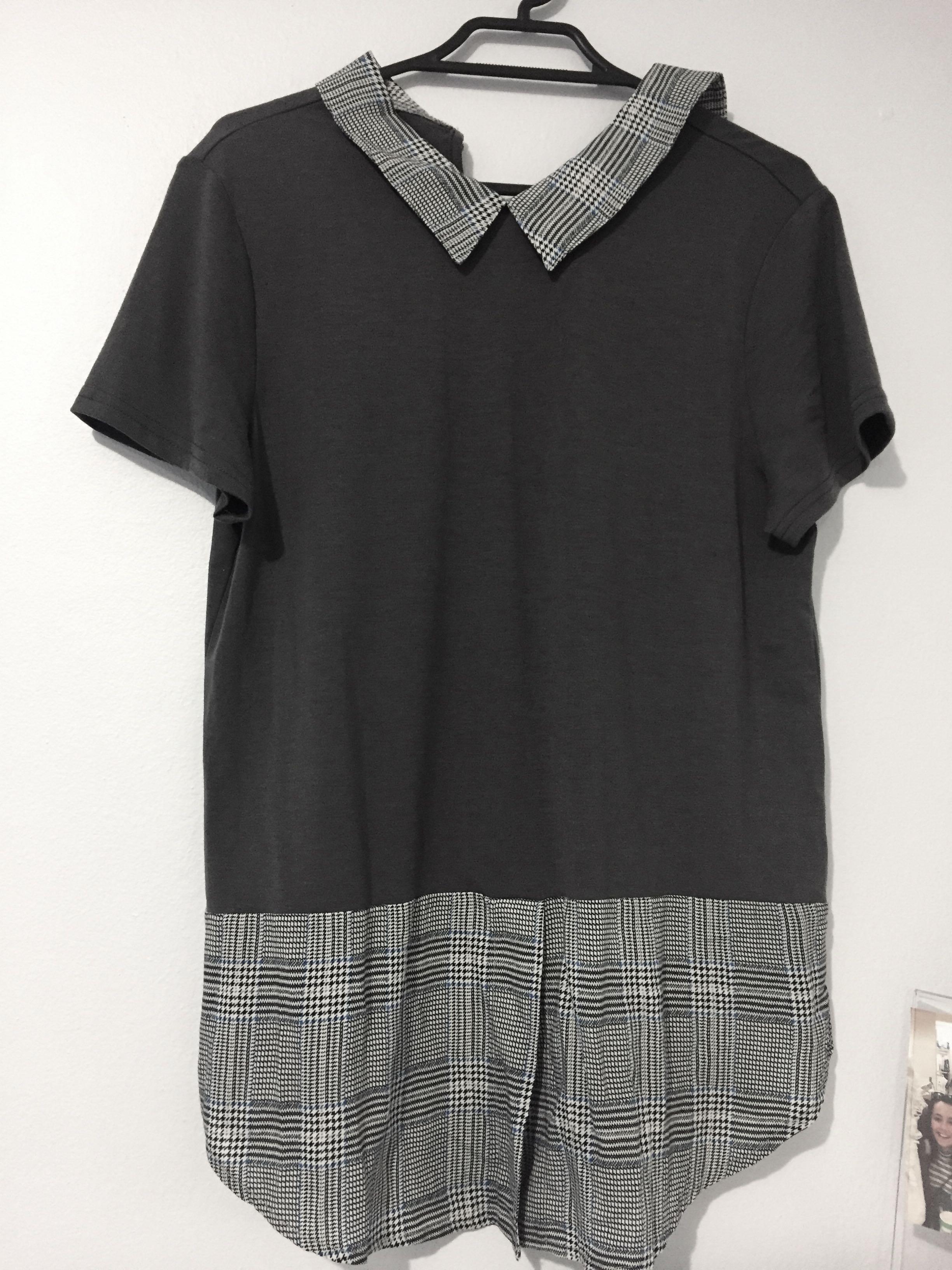 Dark Grey collared shirt