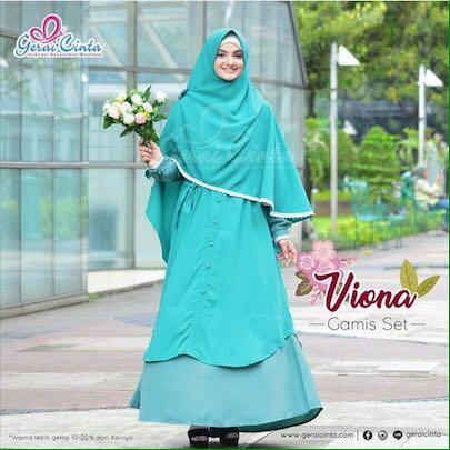 Gamis Syar I Viona Set Produk Gerai Cinta Women S Fashion Muslim