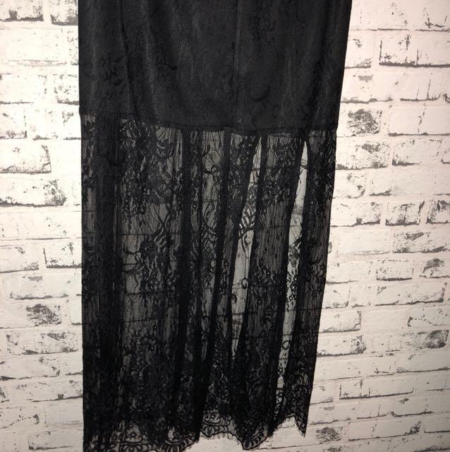 General pants lace skirt