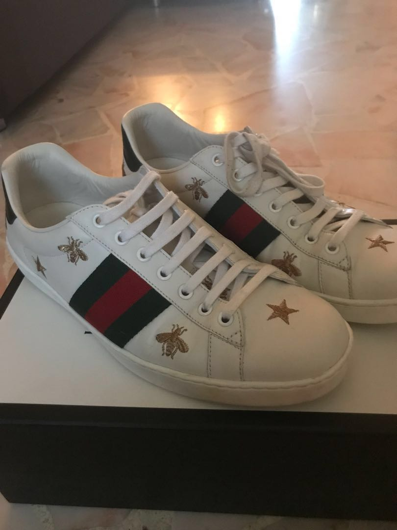 e48047b73 Gucci Ace Bee Embroidered Sneakers, Men's Fashion, Footwear ...