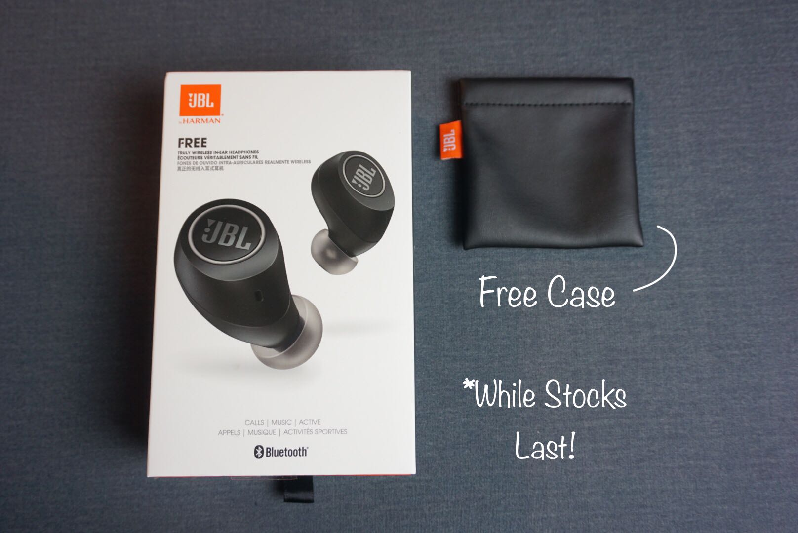 JBL Free True Wireless Sports Earbuds (Includes Free Soft
