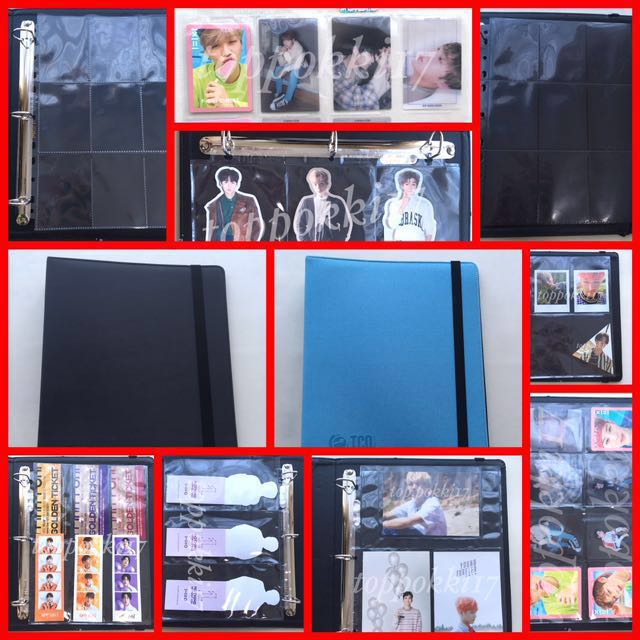 June PO for 3 ring binders, ultra pro sleeves photocard sleeve lomo card  holder Kpop photocards Pokemon cards
