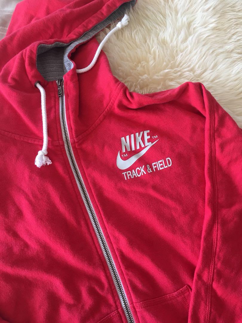 Ladies NIKE hooded jacket red - Size M
