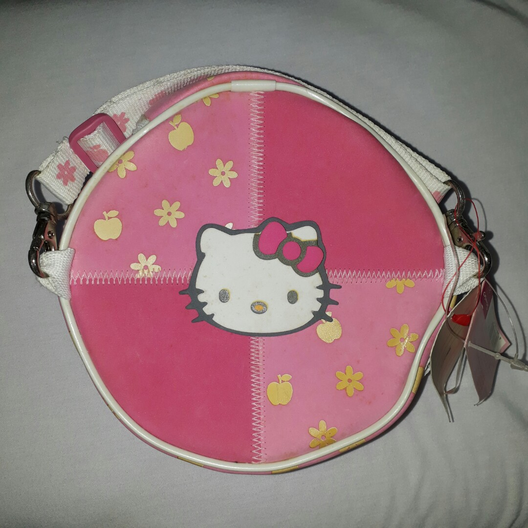Pink Hello Kitty Round Bag Babies Kids Others On Carousell 360do Tooth Brush For Adults