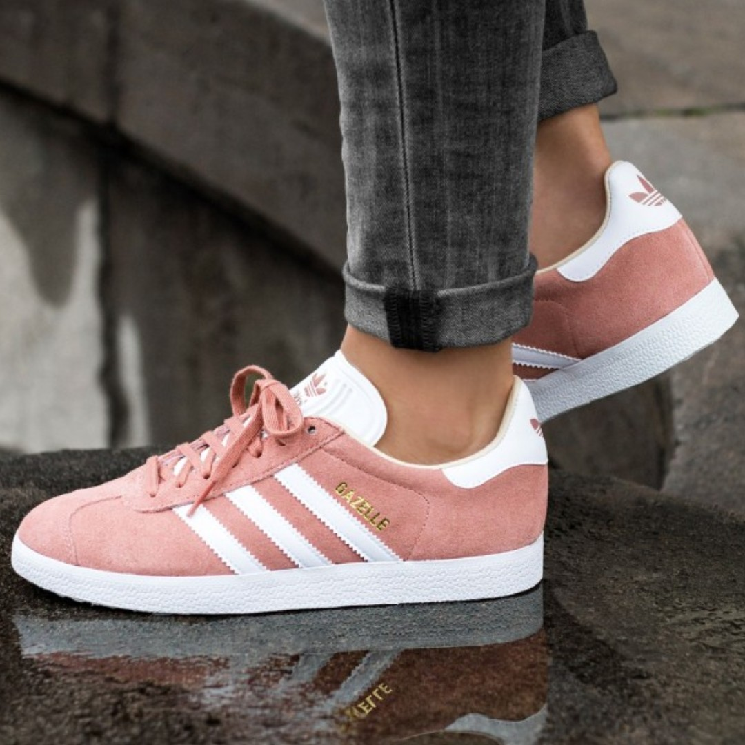 aa00bcac3d8 PO) Adidas Womens Gazelle Trainers Ash Pearl Pink
