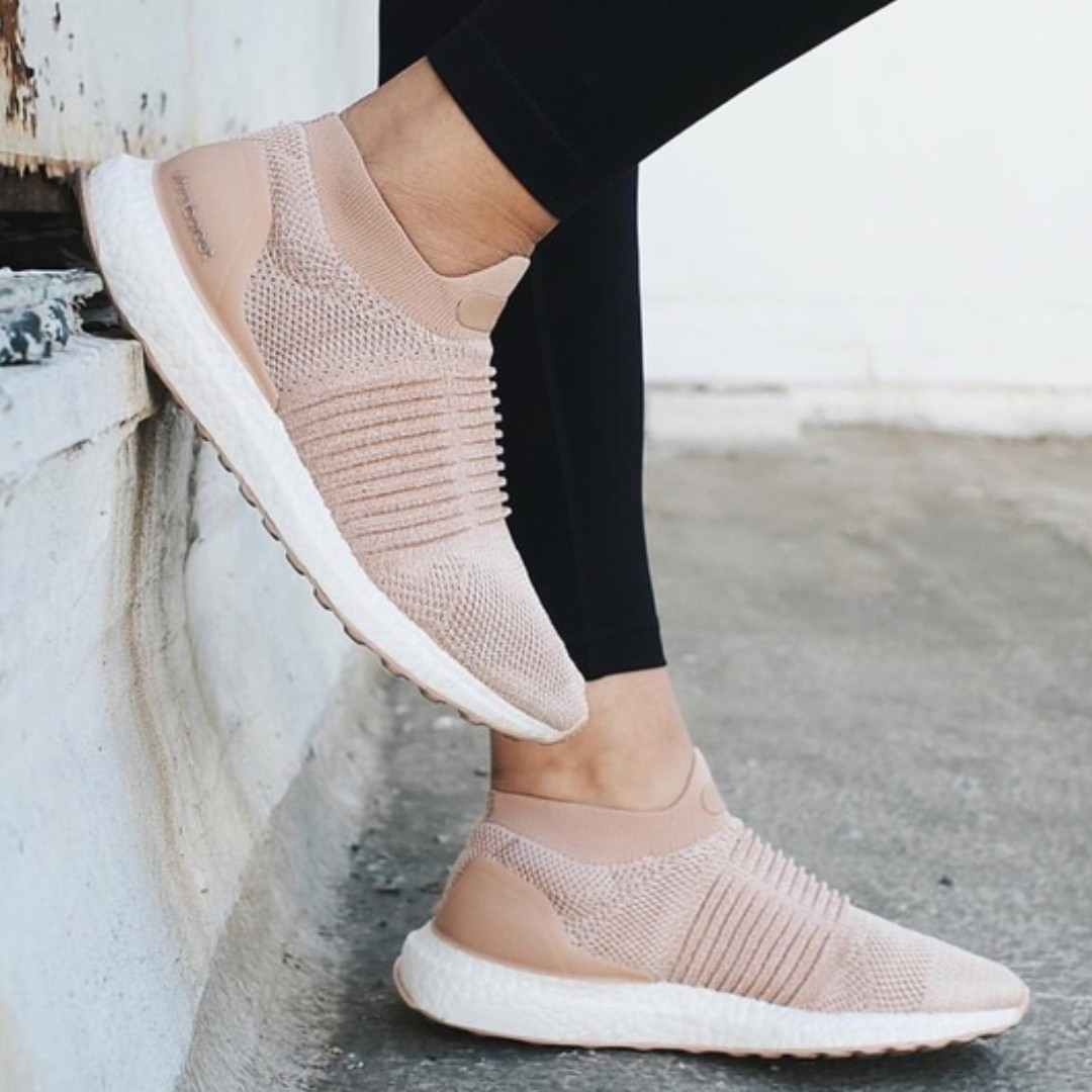 45128b299dcdd PO) Adidas Womens Ultra Boost Laceless Ash Pearl Nude