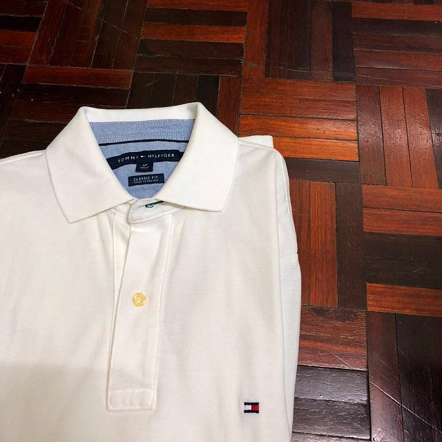 35effd5c1 PRICE REDUCED  Tommy Hilfiger white polo tee (classic fit)