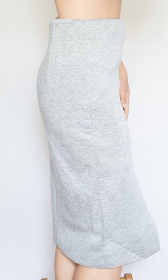 Quilted grey skirt