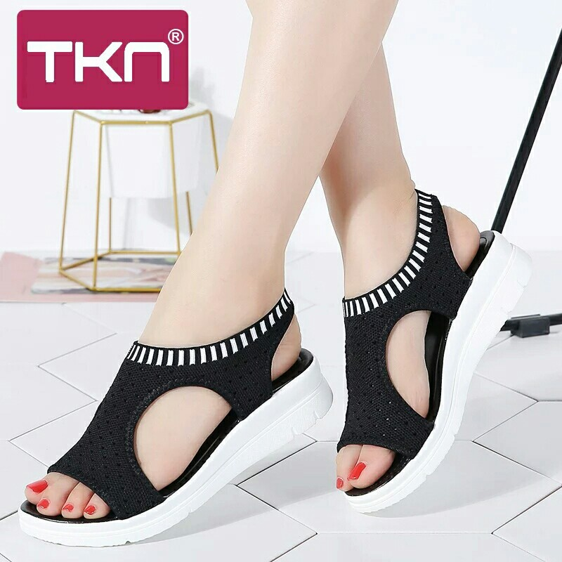 19e40ff5c sandals female shoes ladies flat platform sandals shoes beach summer ...