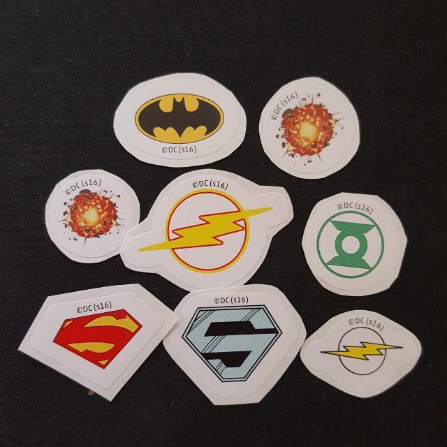 Set 4 Of 8 8 Pcs Per Set Dc Comics Mini Logo Stickers Books
