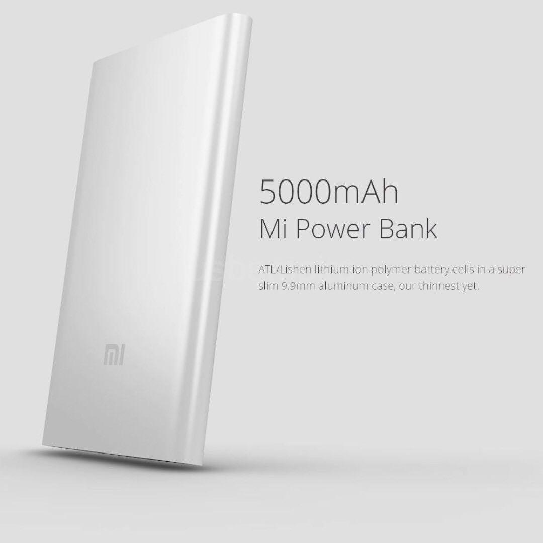 Sold Bnib Xiaomi Mi Power Bank 5000mah Powerbank Mobiles Tablets Wk Design Mirror 10000 Mah Photo