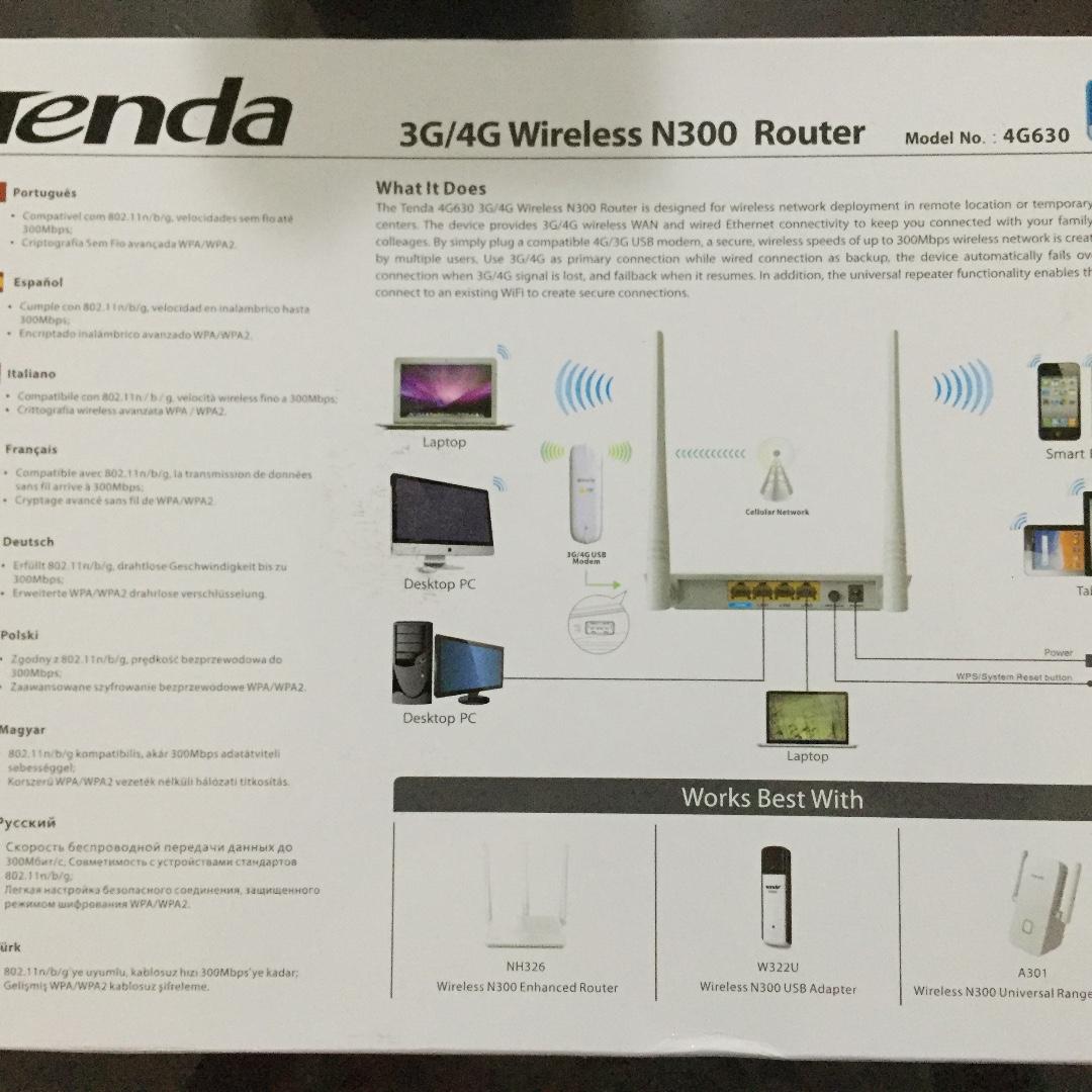 Tenda 3G/4G Wireless N300 Router