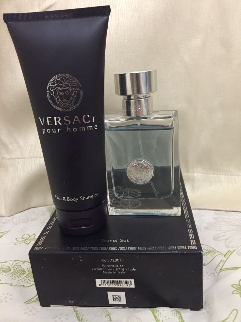 59339a76b000 VERSACE POUR HOMME travel set, Health   Beauty, Perfumes, Nail Care ...