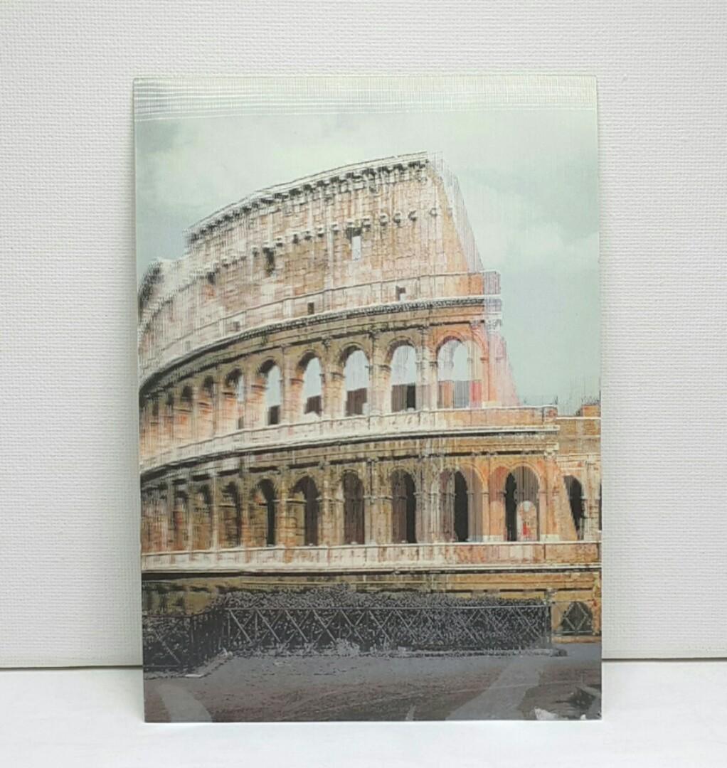 Vintage 3d Lenticular Postcard Coliseo Romano Mmar18 Antiques