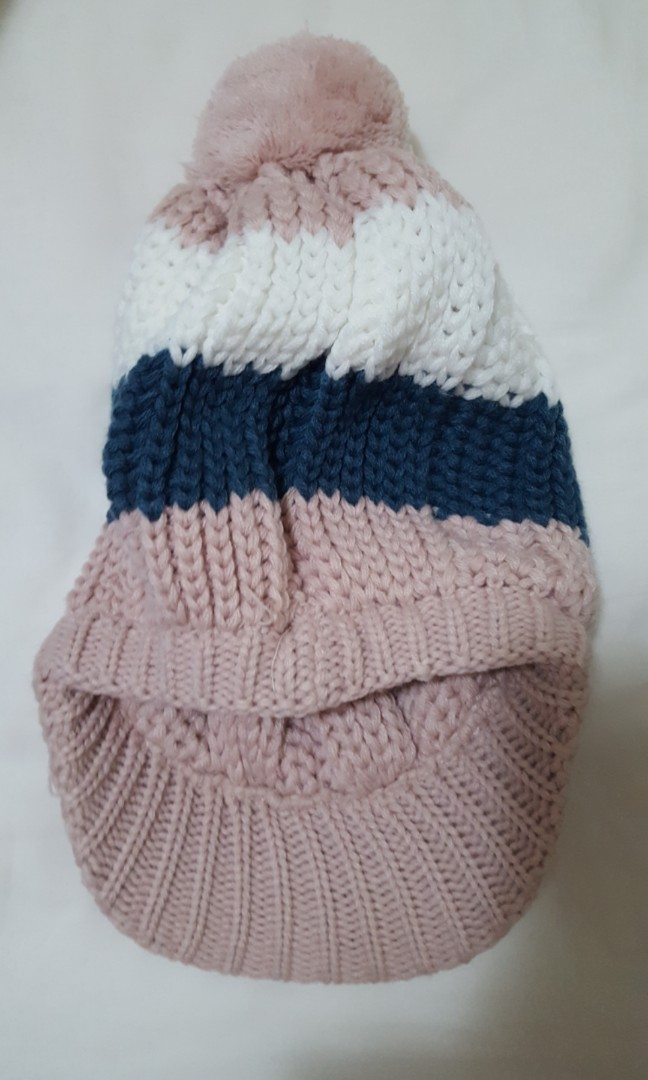 Winter hat beanie with cap