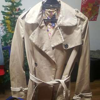 Gap Trenchcoat Beige S  35 Inches Length
